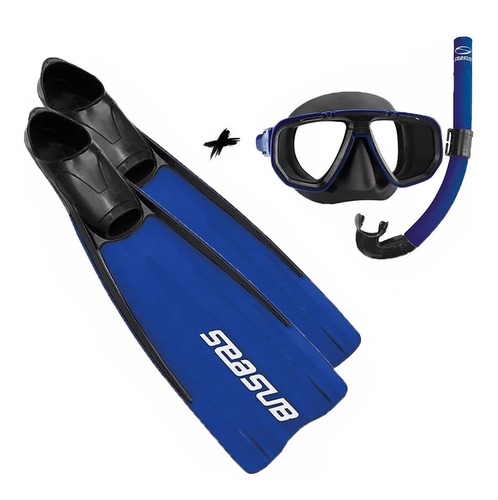 Kit Mergulho Nadadeira Velox Mascara E Snorkel Frete Gratis