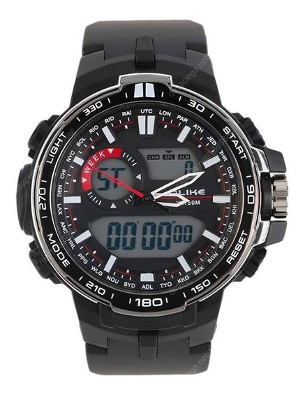 Relógio Alike Militar Digital Masculino - Brinde Grátis