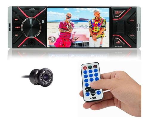 Radio Carro Jdl Pantalla 4  Bluetooth Mp4 Usb + Cam Reversa