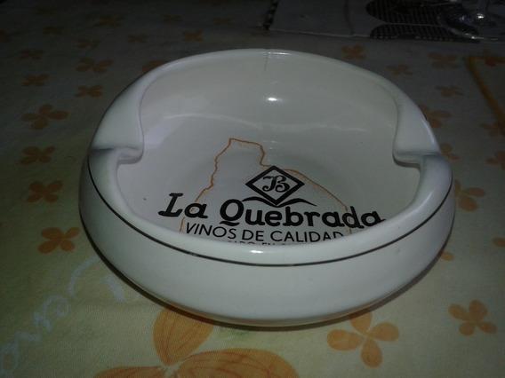 Cenicero Ceramica Publicidad La Quebrada + Cenicero De Chapa