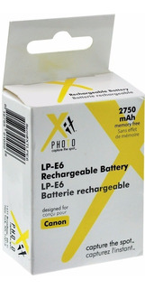 Bateria P/ Canon Lp-e6 2750mah Xitphoto+ Potencia Y Calidad!