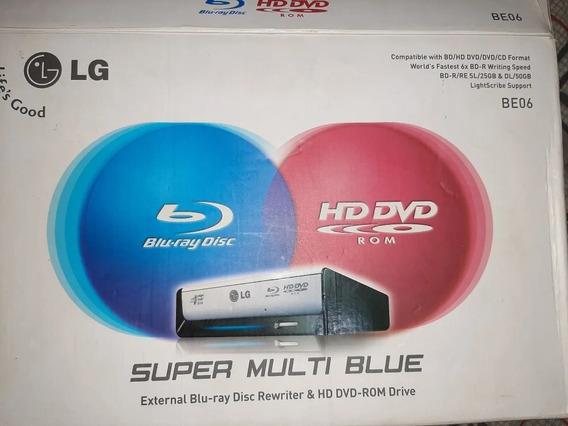 Gravador Externo De Dvd Blu-ray LG Be06lu10