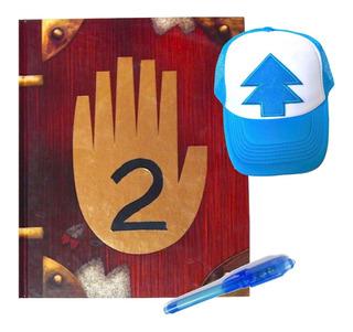 Gravity Falls Diario 2 + Gorra Dipper Pluma Tinta Invisible