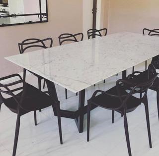 Mesa Comedor De Mármol Moderna De Diseño - Carrara Design