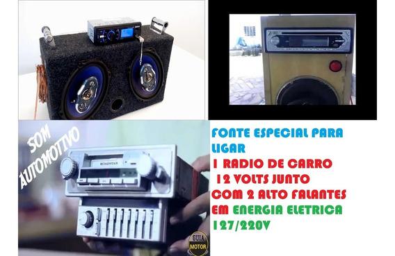 Fonte 12v 15a Ligar Radio Carro Casa + 1 Voltimetro Digital