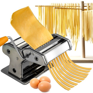 Maquina De Fideos Tallarin Cinta Fabrica Pastas Estira Masa Acero Inoxidable Sobadora Pastas Caseras + Soporte Mesa