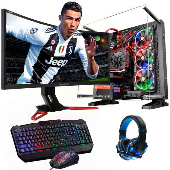 Pc Gamer Armada Tt95 Ryzen 2700x 120gb 8gb + Video Tienda 4