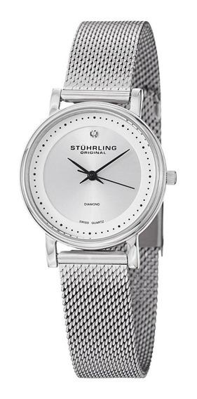 Reloj Acero Inoxidable Pulsera Malla Dama 734lm.01 Stührling