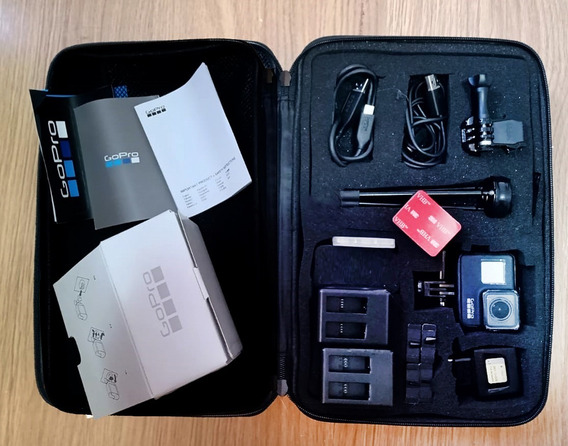 Gopro 7 Black, Maleta, 4 Bateria, Cartões Acessórios, C/nota