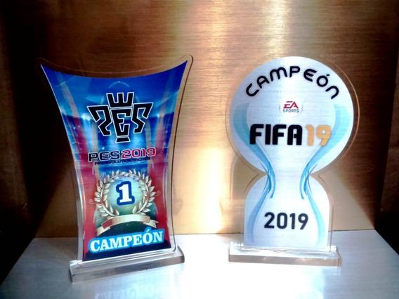 Trofeo Acrilico Futbol Pes Fifa Premio