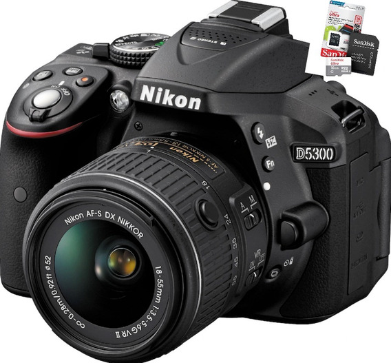 Nikon D5300 Kit 18-55vr Wifi Memoria En Stock !!!