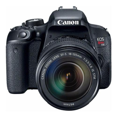 Imagen 1 de 6 de Canon EOS Rebel T7i 18-135mm IS STM Kit DSLR color  negro