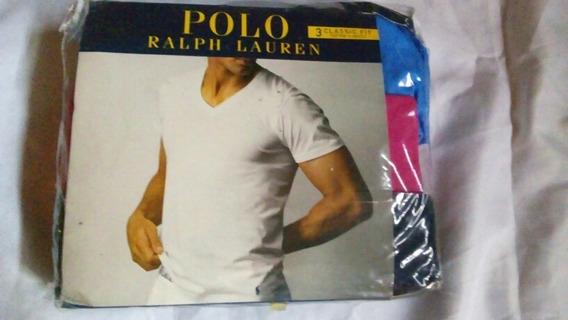 Playeras Polo Ralph Lauren Talla Xl Cuello V 3piezas