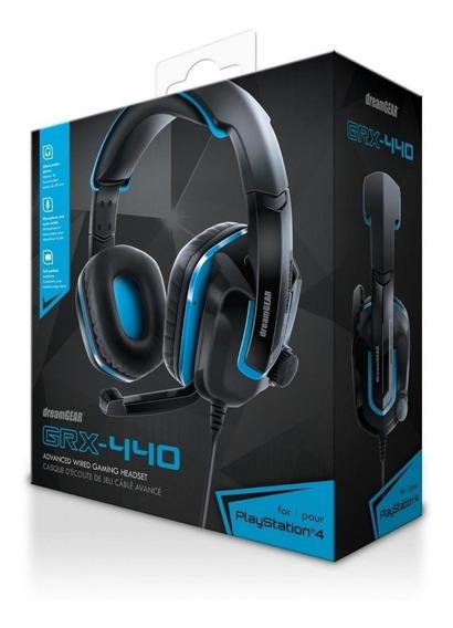 Headset Ps4 Playstation 4 Xbox One Dreamgear Grx-440 - Azul