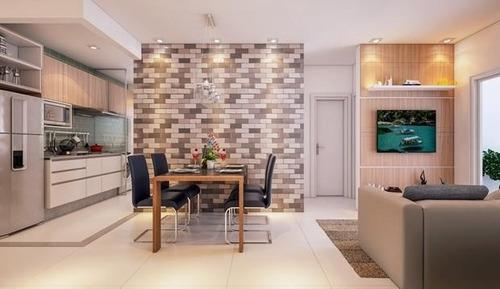 Apartamento Em Parque São Vicente, São Vicente/sp De 46m² 2 Quartos À Venda Por R$ 216.000,00 - Ap707620