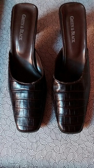 Zapatos Cuero Sintetico Mujer Marrón