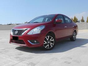 Nissan Versa 1.6 Exclusive L4 At 2015 Rojo