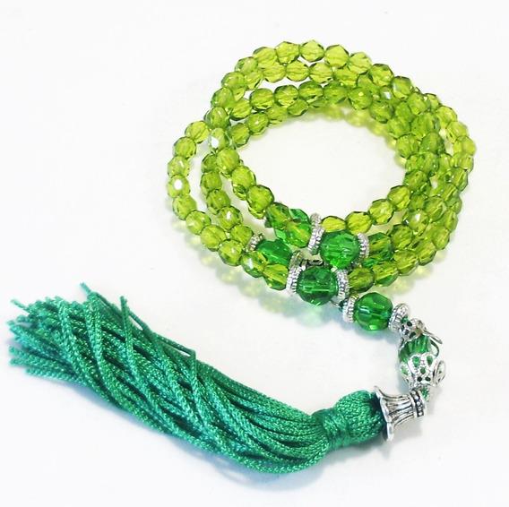 Japamala 108 Contas Cristal Verde Terço Budista Hooponopono