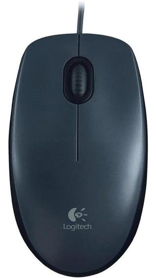 Mouse Logitech M90 C/fio Usb Optico Preto