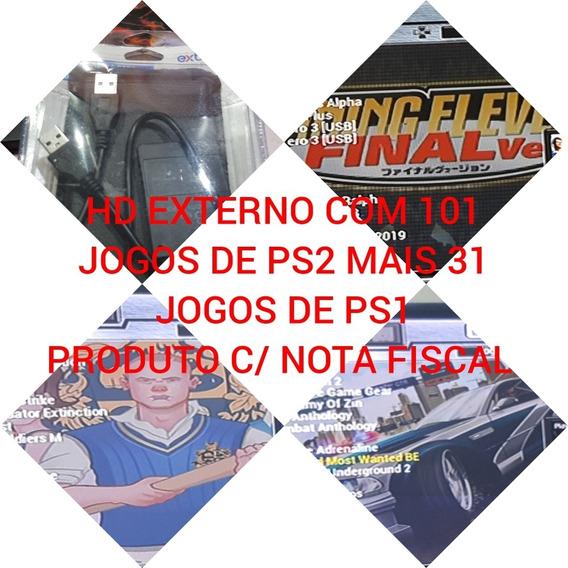 Hd Externo Para Playstation 2 Com 101 Ps2 + 32 De Play 1