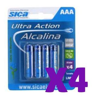 Pila Aaa- Pack X 4 Unidades Sica- Alcalina-