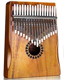 Kalimba Thumb Piano 17 Teclas, Mbira Portatil Piano Regalos