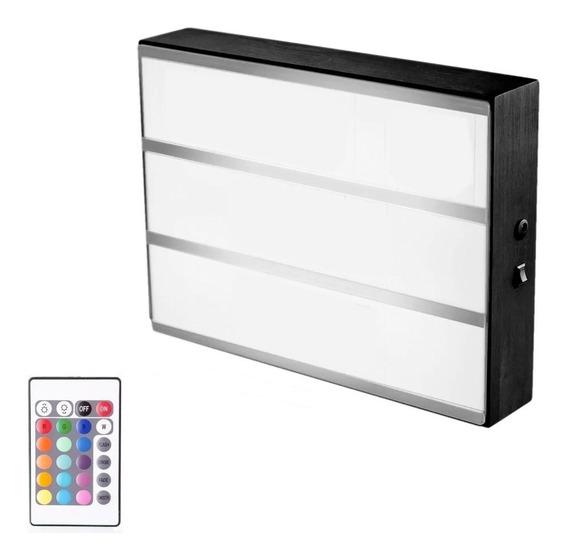 Cartel Luminoso Led A4 Cambia Color Control Remoto** Nuevo