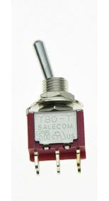 Chave Mini Toggle Seletora On / On / On - 6 Polos - Salecom