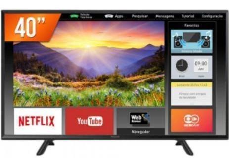 "Tv 40"" Led Panasonic Full Hd Smart - Tc-40fs600b"
