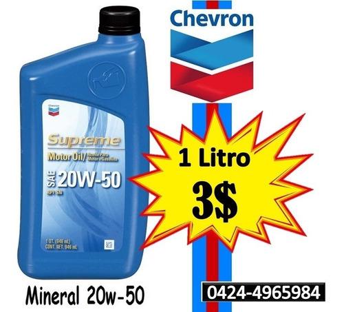 Aceite Mineral 20w-50 (1 Litro) Chevron Supreme (3$)