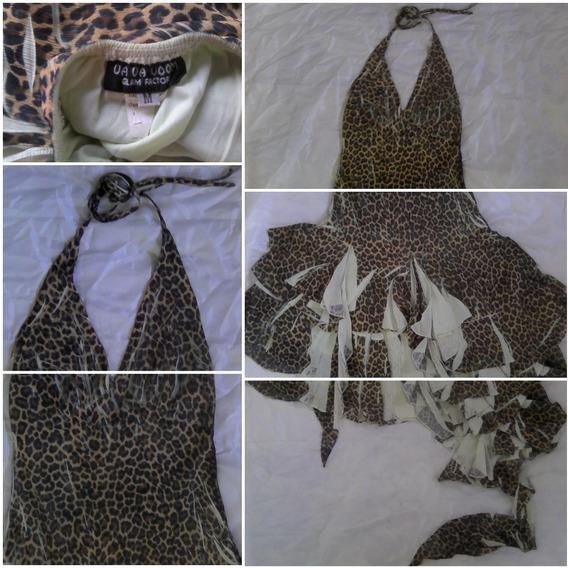Vestido Elegante Animal Tigre Dama Talla M Oferta