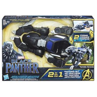 Combo Black Panther Jet Pantera + Figura Articulada Hasbro