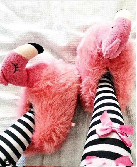 Pantufa 3d Flamingo Ricsen