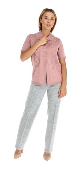 Blusa Trenza Manga Corta Para Dama