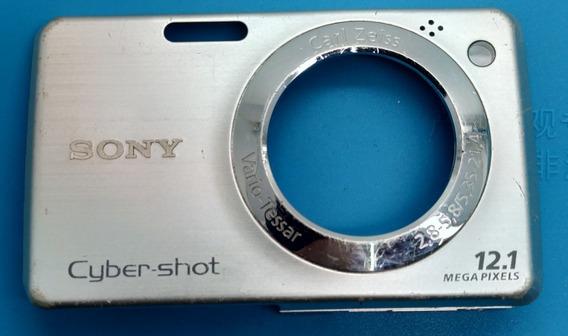 Carcaça Frontal Lentes Câmera Digital Sony Dsc-w210 Original