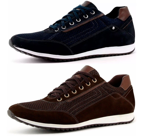Kit 2 Pares Sapatenis Tenis Masculino Mega Pre Black Friday