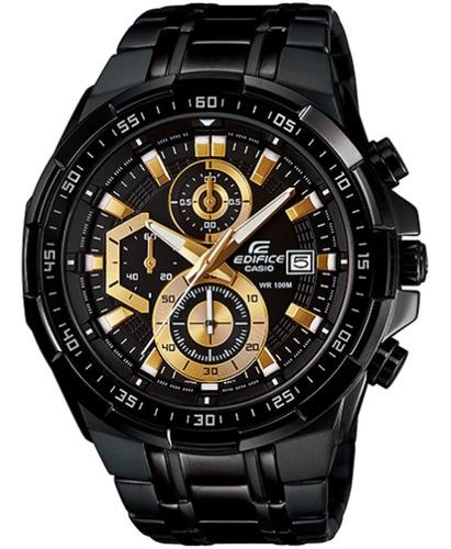 Reloj Casio Edifice Cronógrafo Efr-539bk-1av - 100% Original