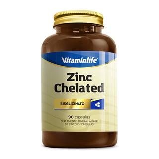 Zinco Quelato Zinc Chelated Vitamin Life Promoção