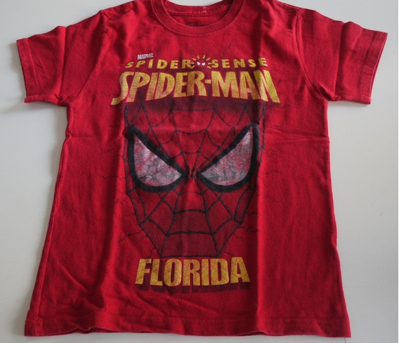 Remera Marvel Spiderman Roja M/corta Talle M
