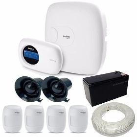 Kit Intelbras 1 Central De Alarme Com Teclado + 4 Sensores