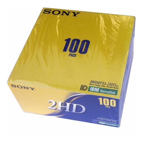 Sony 100disquetes De Alta Densidad Pc