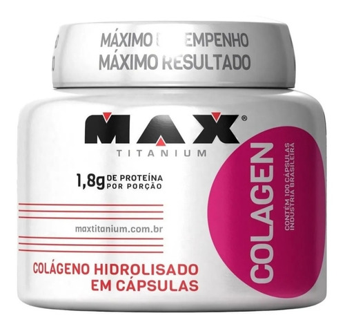 Colágeno Hidrolizado Max Titanium 100 Capsulas