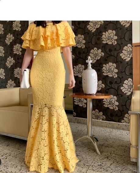 Vestido Longo Festa Renda Madrinha Formatura Casamento #lv9