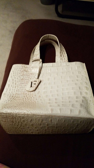 Cartera Cuero Blanco Furla Made In Italy Impecable