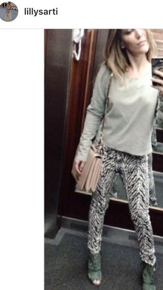 Calça Lilly Sarti Tamanho 36 Modelagem Skinny Frete Grátis Estampa De Zebra