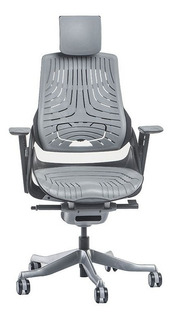 Cadeira Escritório Wau Super Ergonômica Preta Elastômero Cza