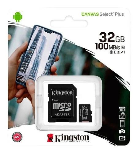 Cartão De Memória 32gb Kingston Microsd 100mb/s A1 Original