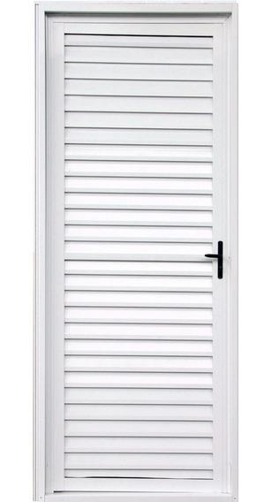 Porta Palheta De Alumínio Branco 2,10 X 0,90 Direita