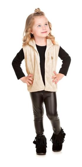 Colete De Pelo Infantil Roupa De Inverno Para Menina