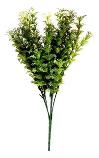 Follaje Fino Verde Planta Interior Artificial Decoración